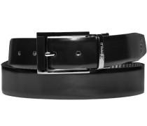 Herren Gürtel Wendegürtel schwarz-grau Breite ca. 3,5 cm grau,schwarz