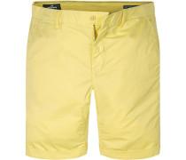 Herren Hose Shorts, Baumwolle, gelb