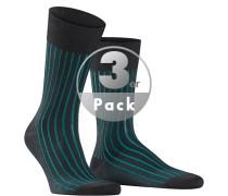 Serie SHADOW, Socken, Baumwolle, -grün gestreift