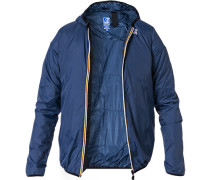 Herren Regenjacke, Regular Fit, Microfaser, blau