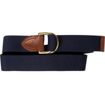 Herren Gürtel marineblau, Breite ca. 4 cm