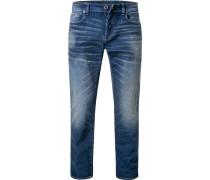 Jeans 3301 Straight Fit Baumwoll-Stretch dunkel