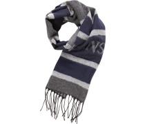 Schal, Wolle, dunkel-grau gestreift