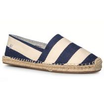Herren Schuhe Espadrilles, Textil, navy-ecru gestreift blau