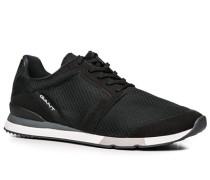 Herren Schuhe Sneaker, Mesh, schwarz