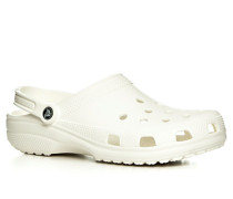 Herren Schuhe Pantoletten, Gummi, weiß