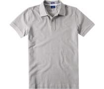 Herren Polo-Shirt Modern Fit Baumwoll-Piqué hellgrau