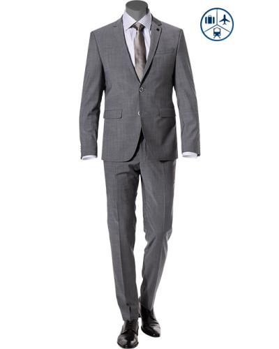 Anzug, Shape Fit, Schurwoll-Stretch,  meliert