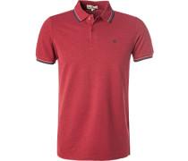 Herren Polo-Shirt, Baumwoll-Piqué, baralo meliert rot