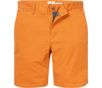 Herren Hose Bermudashorts, Straight Fit, Baumwolle, orange