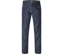 Herren Jeans, Regular Comfort Fit, Baumwoll-Stretch, dunkelblau