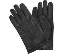 Herren Handschuhe, Peccaryleder, schwarz