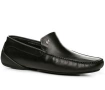 Herren Schuhe Slipper, Nappaleder, schwarz