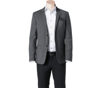 Herren Sakko, Fitted, Wolle Super100, grau meliert