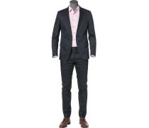 Herren Anzug, Baumwolle, navy blau
