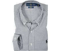 Herren Hemd Baumwolle schwarz-weiß kariert