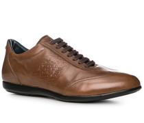 Herren Schuhe Sneaker Leder cognac blau