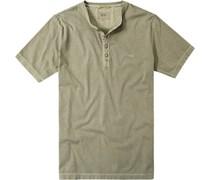 Herren T-Shirt Baumwolle oliv grün
