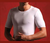 Herren T-Shirt, Mako Baumwolle, weiß