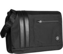 Herren -Messenger Bag, Microfaser, schwarz