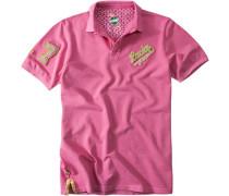Herren Polo-Shirt Baumwoll-Piqué pink rosa