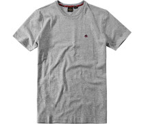 Herren T-Shirt Baumwolle hellgrau meliert