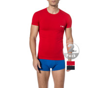 T-Shirts, Baumwolle, navy-rot