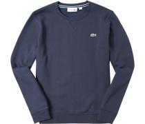 Herren Sweatshirt, Baumwolle, navy blau