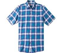 Herren Hemd Modern Fit Chambray seegrün kariert blau,grün