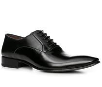 Herren Schuhe Oxford, Leder, schwarz