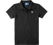 Herren Polo-Shirt Baumwoll-Piqué schwarz