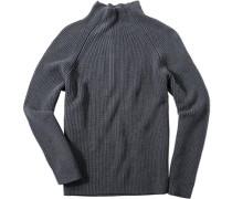Herren Pullover Wolle-Baumwoll-Mix grau