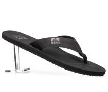 Herren Schuhe Zehensandalen Kunststoff schwarz schwarz,schwarz