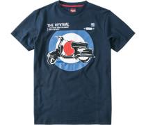 Herren T-Shirt Costello Baumwolljersey marine