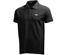 Herren Polo-Shirt Tactel schwarz