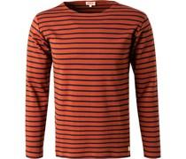 T-Shirt Longsleeve Baumwolle -blau gestreift