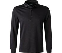 Polo-Shirt Baumwoll-Jersey nacht meliert