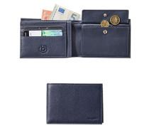 Herren Geldbörse, Leder, blau