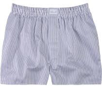 Herren Unterwäsche Boxer-Shorts Popeline marine-weiß gestreift