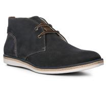 Herren Schuhe ALBANY Kalbvelours blau