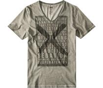 Herren T-Shirt Cilambro, Baumwolle, grau