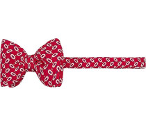 Krawatte Schleife Seide rot-weiß