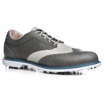 Herren Golfschuhe Leder rauchblau-grau