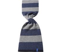 Herren Schal  Wollmix navy-grau blau