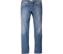 Herren Jeans Regular Fit Baumwoll- Stretch jeansblau