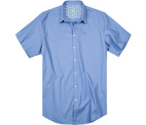 Herren Hemd Big&Tall Baumwolle blau meliert