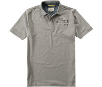 Herren Polo-Shirt Baumwoll-Jersey grau
