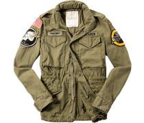 Herren Field-Jacket Baumwolle khaki