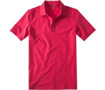 Herren Polo-Shirt Baumwoll-Piqué, granat rosa