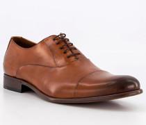 Schuhe Oxford Salto Kalbleder cognac